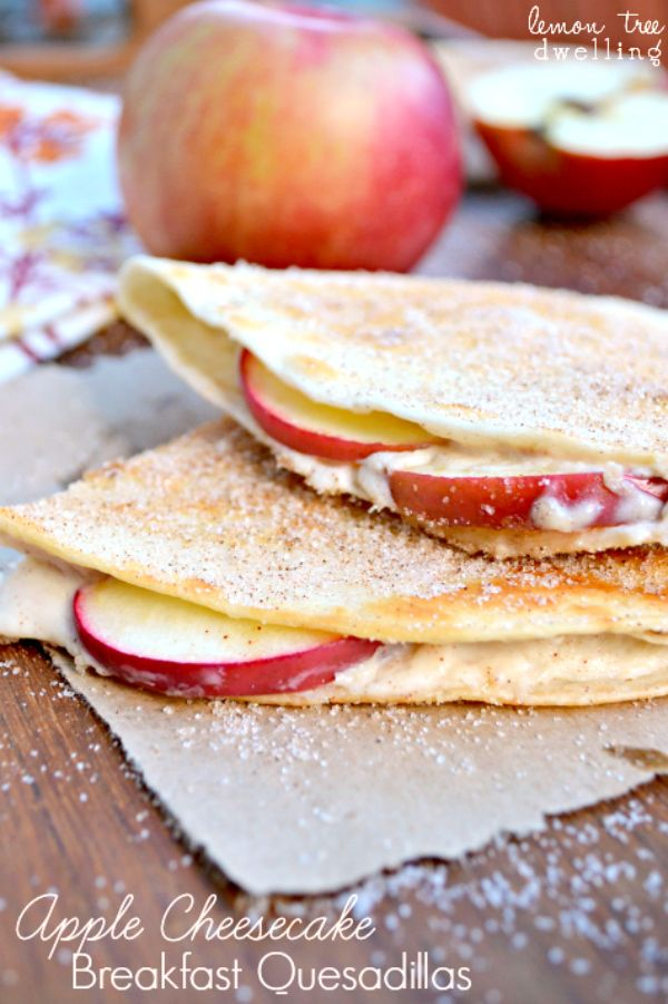 Apple Cheesecake Breakfast Quesadillas | Lemon Tree Dwelling