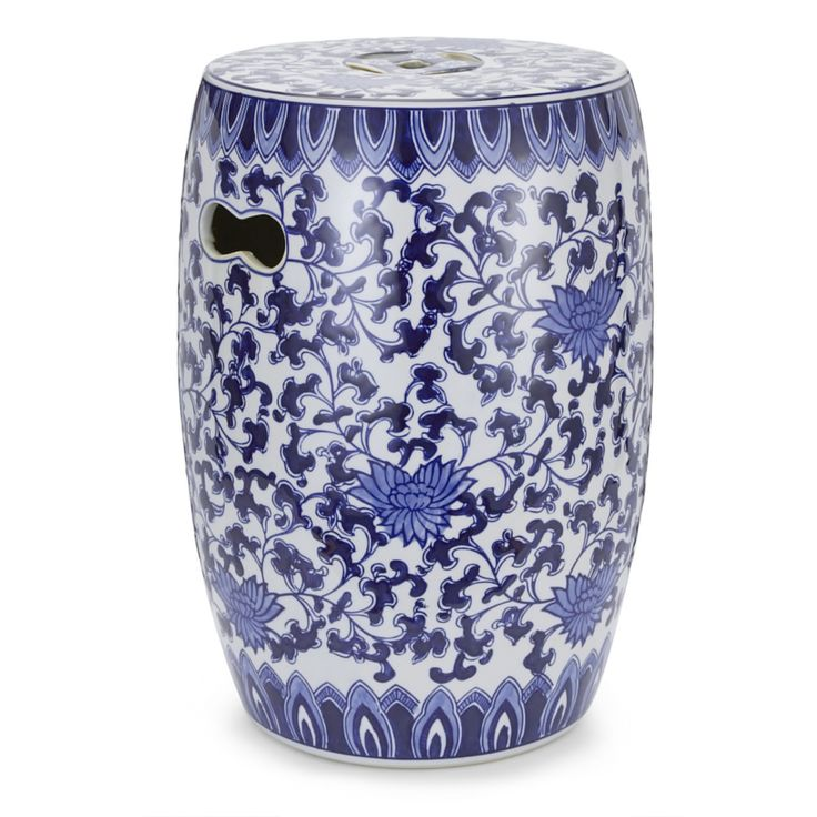 China Blue Porcelain Stool #LauraAshley