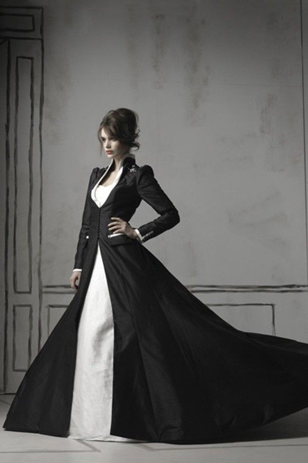 Black Wedding Dresses Elegant Fashion Gowns 2012 Pictures