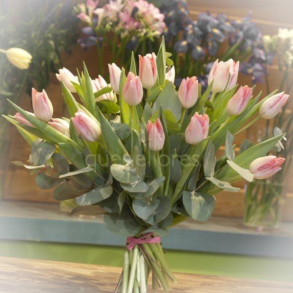 Ramo de tulipanes rosas tulips bouquet pink tulips - Ramos para regalar ...