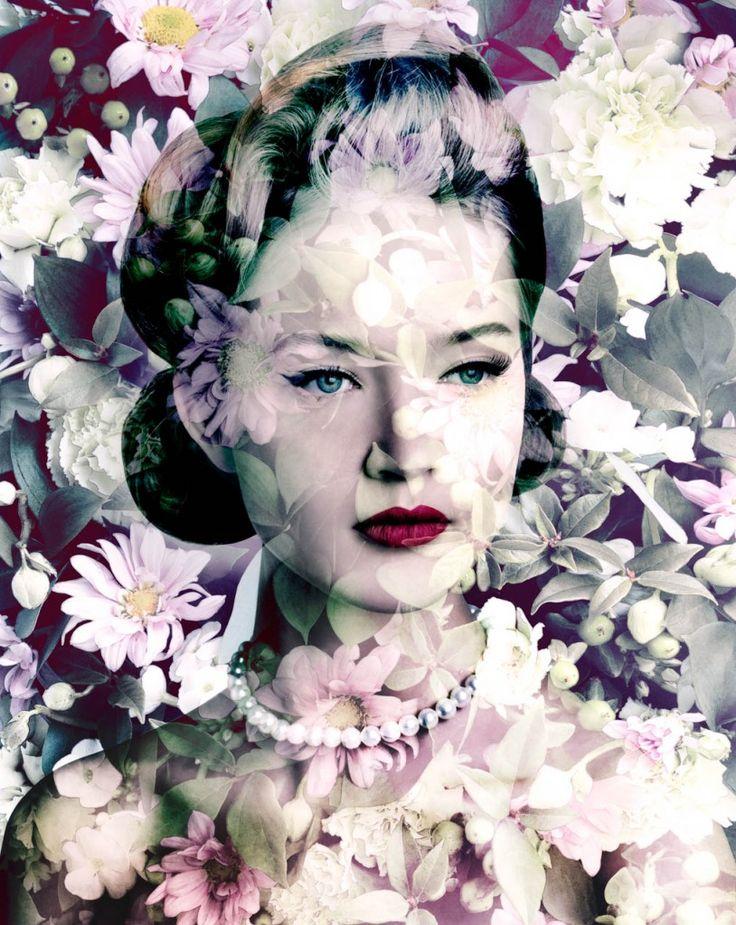 -Valérie Belin-  'Painted Daisy' (Carmine Blush Chrysanths. 2010)