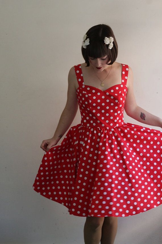 LAST CHANCE SALE The Minnie Red Polka Dot Party by katielouiseford, $120.00