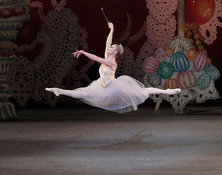Sara Mearns performing the role of The Sugarplum Fairy in George Balanchine's The Nutcracker