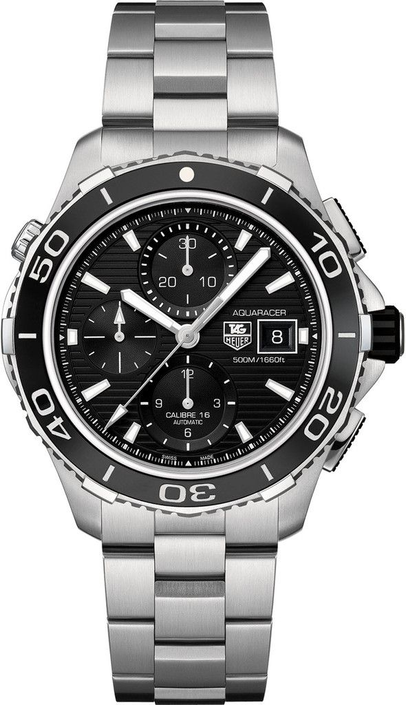TAG Heuer Watch Aquaracer Chronograph #bezel-unidirectional #bracelet-strap-steel #brand-tag-heuer #case-material-steel #case-width-43mm #chronograph-yes #date-yes #delivery-timescale-call-us #dial-colour-black #gender-mens #luxury #movement-automatic #official-stockist-for-tag-heuer-watches #packaging-tag-heuer-watch-packaging #subcat-aquaracer #supplier-model-no-cak2110-ba0833 #warranty-tag-heuer-official-2-year-guarantee #water-resistant-500m