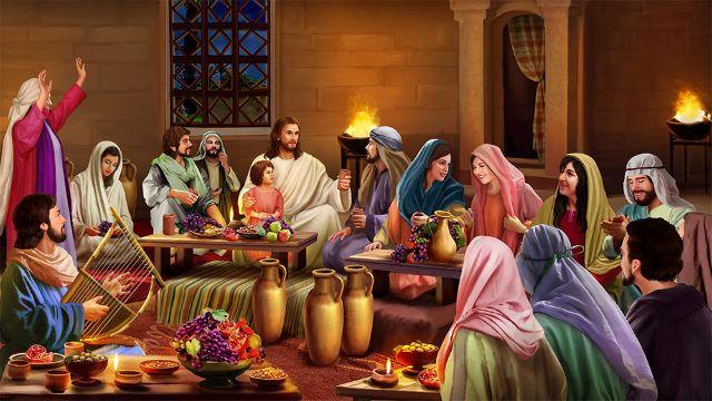 Biblische Geschichte Zu Kanas Hochzeit Und Am Dritten Tag Ward Eine Hochzeit Zu Kana In Galilaa Und Die Mutter Jesu War D Bibel Geschichten Geschichte Bibel