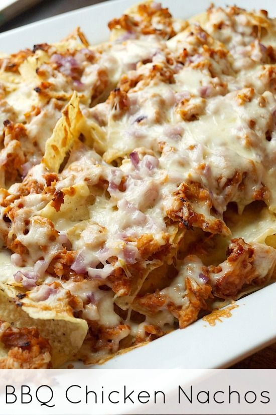 BBQ Chicken Nachos. These nachos are so simple to make and only require a few ingredients!