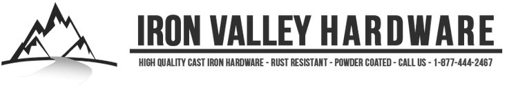 Iron Valley Hardware manufactures Cast Iron Hardware for gates, doors, & cabinets. High quality, low price, and black powder coated for rust resistance.