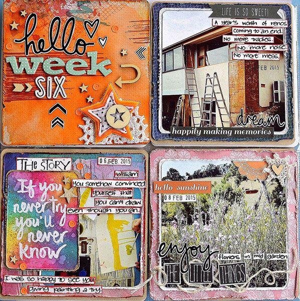 Pocket scrapbook page by Belinda Spencer using Darkroom Door rubber stamps!