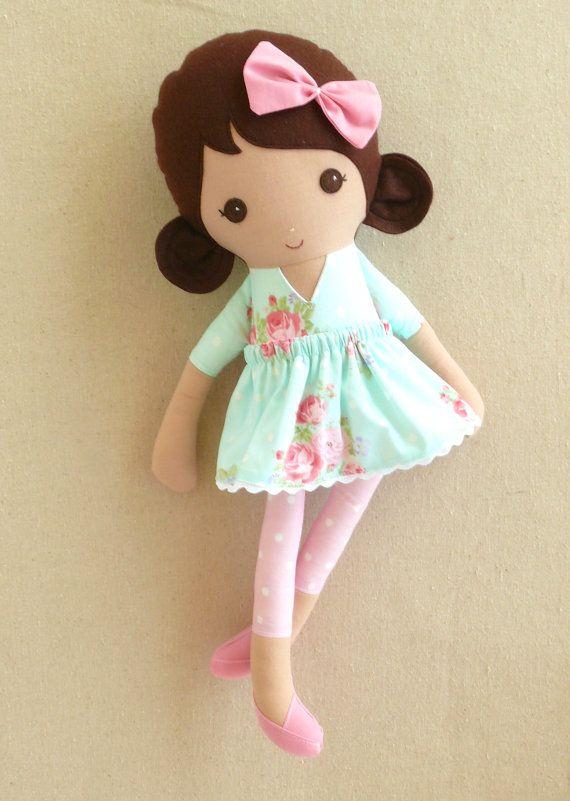 Bambola di pezza di tessuto bambola ragazza dai di rovingovine