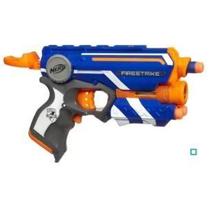 Nerf Elite Firestrike- Pistolet équipé d'un rayon laser avec une puissance de tir de 20 mètres - 3 fléchettes Nerf Elite incluses - Garçon- A partir de 8 ANS - Livré à l'unité