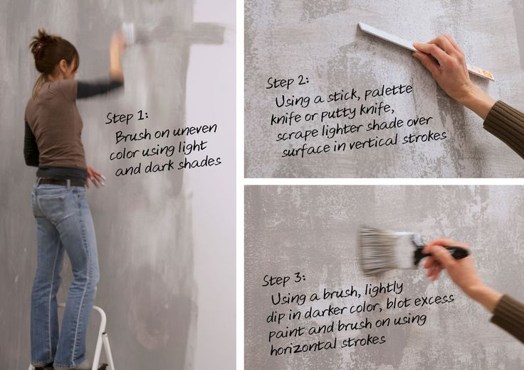 How-To: Faux finish concrete wall http://imaxdesignhub.com/index.php/faux-finish-concrete-wall/