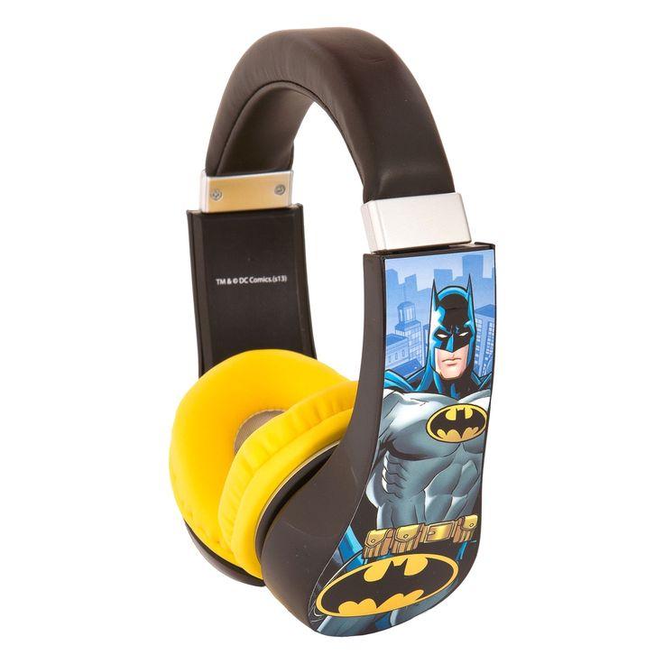 Sakar Kids Batman Kids Safe Friendly Headphones #30382