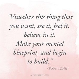 """Visualize this thing that you want, see it, feel it, believe in it. Make your mental blueprint, and begin to build."" Robert Collier Quote  I love to use guided visualization to access my intuition. There are many ways to do this. You can listen to a recorded guided visualization or you can just use your imagination.  The idea with visualization is to get to a relaxed place where you can access your inner wisdom using your imagination."