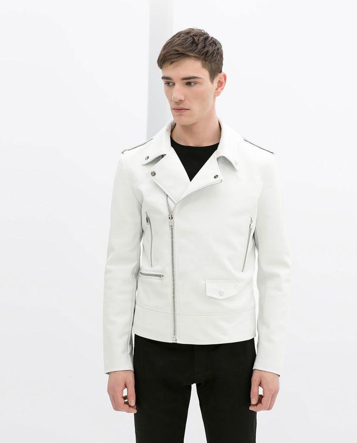 White Biker Coat