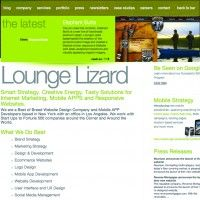 LoungeLizard.com's consistent theme and interactive Flash graphics earns this Patchogue-based web developer website of the week.