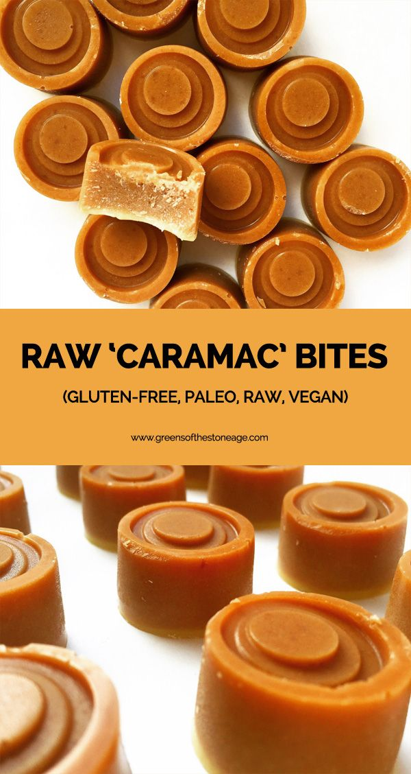 These Paleo Raw 'Caramac' Bites are bite sized pieces of joy, flavoured by lucuma, vanilla, and maca they are set in a base of cacao butter. Great for those trying to embark upon a healthier eating regime.