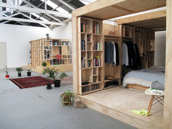Wooden sleeping pod by Sibling