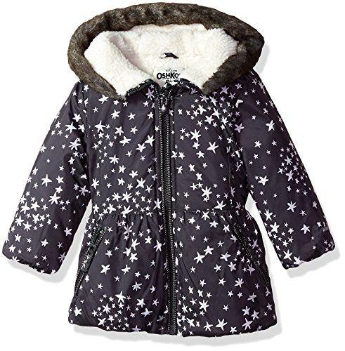 fdc208fc4 Osh Kosh Baby Girls Hooded Peplum Jacket Coat