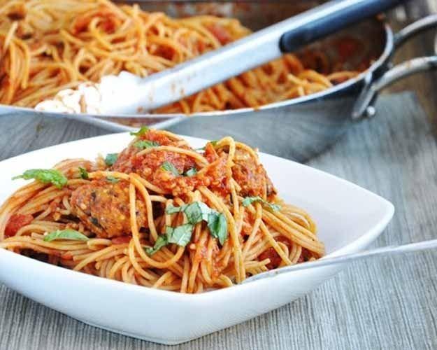 Spaghetti With Quinoa Meatballs