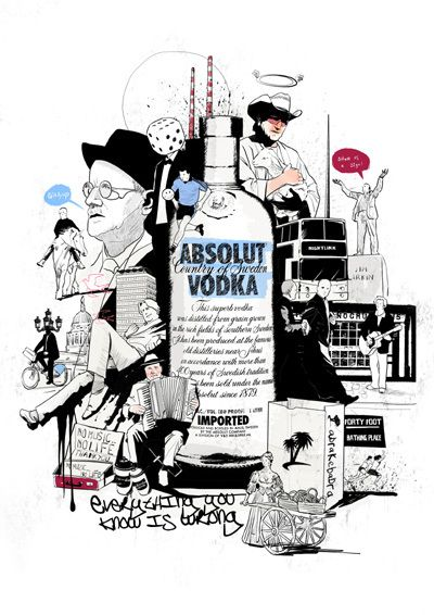 Absolut Vodka by Peter Donnelly