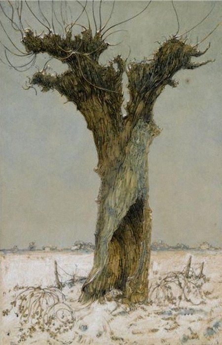 Dick Ket (Dutch, 1902-1940), Knotwilg in de Sneeuw (Willow in the Snow).