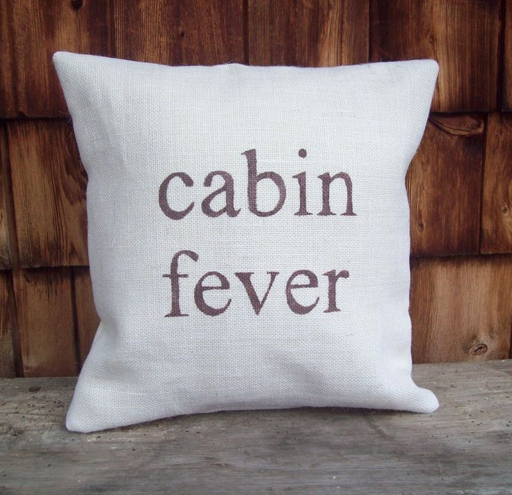 Rustic Burlap Pillow Cover...cabin fever 16 x 16 by North Country Comforts / Cabin and Lodge Decor / Choose Your own Colors. $34.00, via Etsy.