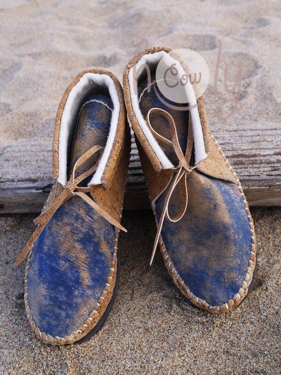 Shoes Cork Fabric Leather Loafers Handmade Womens Shoes Gift for Wife