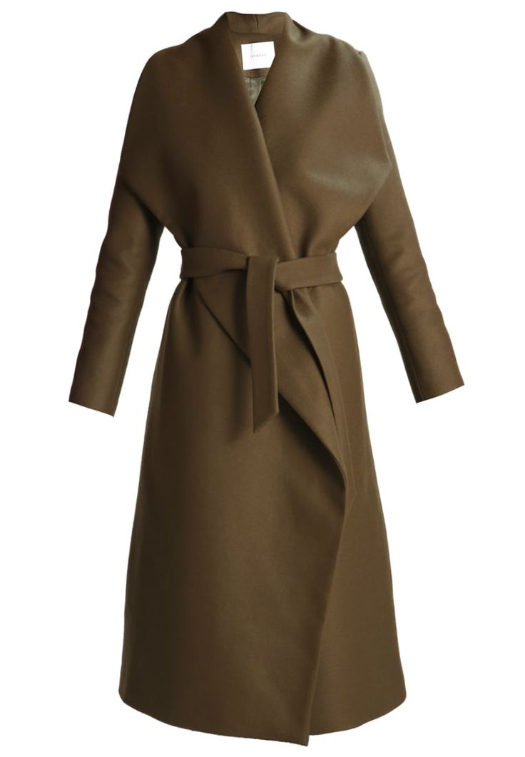 IVY & OAK Wollmantel / klassischer Mantel khaki green