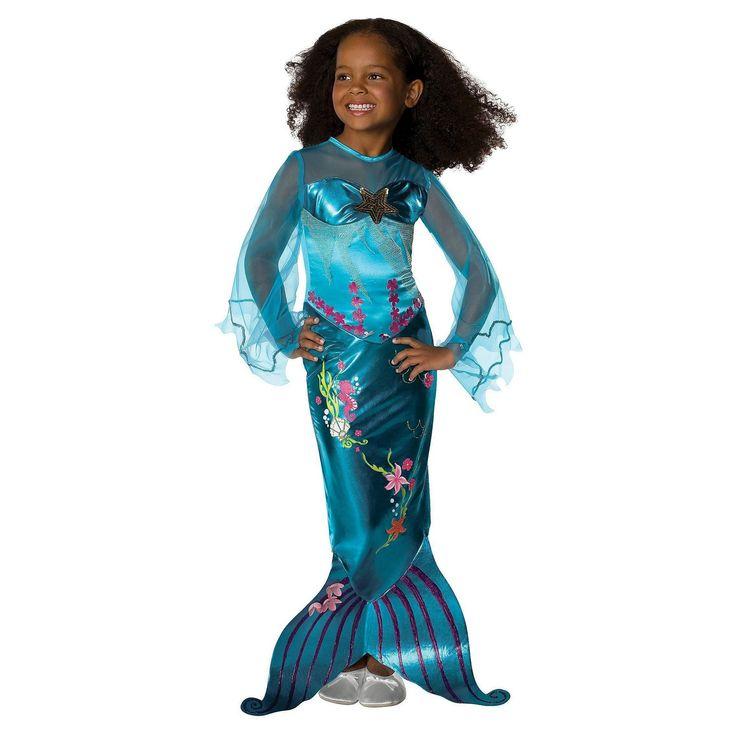 Halloween Mermaid Girls' Toddler Costume - 2T-4T, Blue