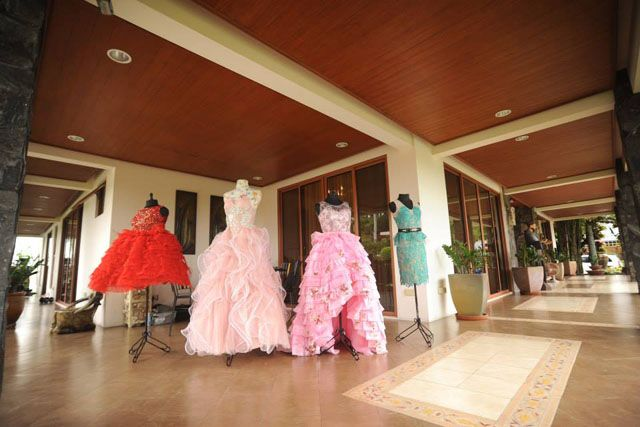 This debutante effortlessly flaunted her four fabulous gowns.