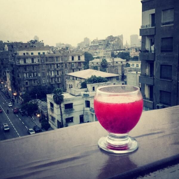 Spring on the Nile: strawberry, bourbon, tonic, bitters