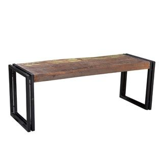 Shop For Timbergirl Old Reclaimed Wood Bench With Metal Legs India Get Free BenchesOnline FurnitureDestinationsIndiaDining Room