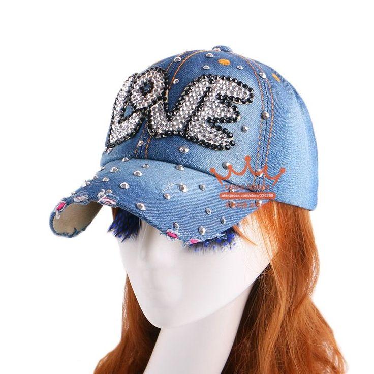 de las mujeres de alta calidad gorra de béisbol de la marca de moda, los pantalones vaqueros, diamantes de imitación de cristal del snapback del sombrero de los snapbacks al por mayor de las mujeres del sombrero de hip-hop en la Nota 1. La imagen no muestran el tamaño real, por favor ver los detalles. 2. Tenga en cuenta el color y muestra la real puede diferir de la gorra de béisbol AliExpress.com.