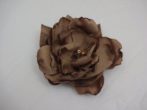 Light Brown Bridesmaid Hair Flower Clip, Wedding Hair Flower Fascinator,Bridal Party Accessories, Bridal Hair Fascinator,Wedding Hair Piece #weddings