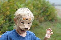 Woodland Bear Felt Mask Pattern & Tutorial