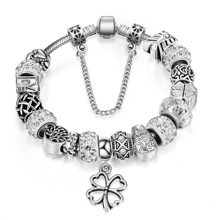 Dequeen Bracelet Vintage Bijoux Femme Diy Pan Bracelet Charm Bracelets & Bangles For Women Gifts Bracelet pulseira