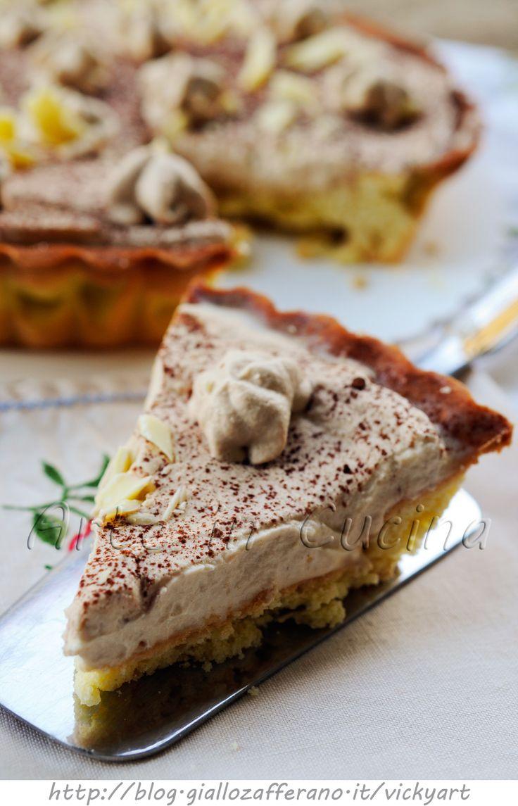 Crostata al cappuccino e cioccolato bianco vickyart arte in cucina