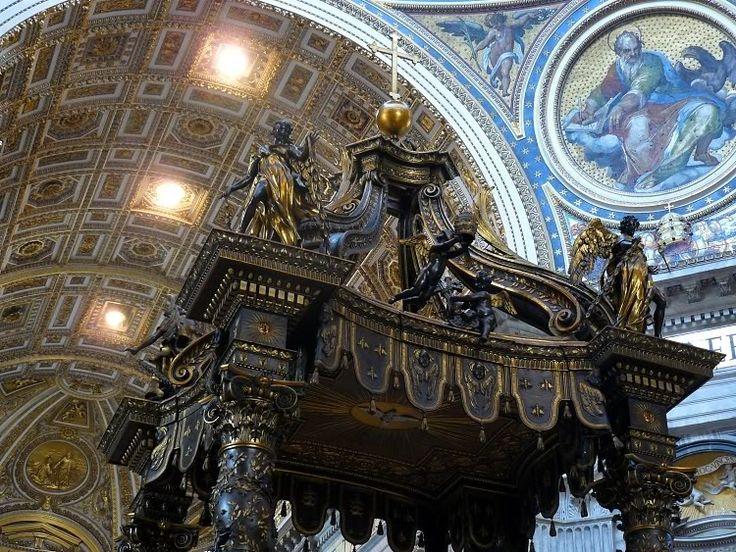 Tron św. Piotra - Cathedra Petri, 1657-65, marmur, złoto, stiuk Bazylika św. Piotra