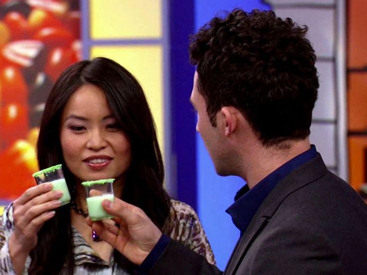 5 Taste Lime Slime Garnished with Mad Rocks recipe from Halloween Wars via Food Network
