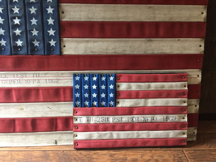 Retired Firefighter Fire Hose American Flag by Brotherhood Products