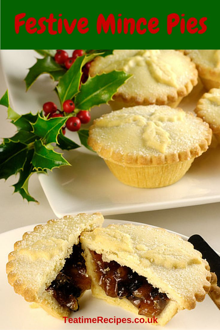 These delicious, sweet little snacks are a big part of Christmas in the UK. They are made with pastry and filled with mincemeat (a sweet candied fruit mixture).