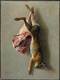 A Hare and a Leg of Lamb - Jean-Baptiste Oudry