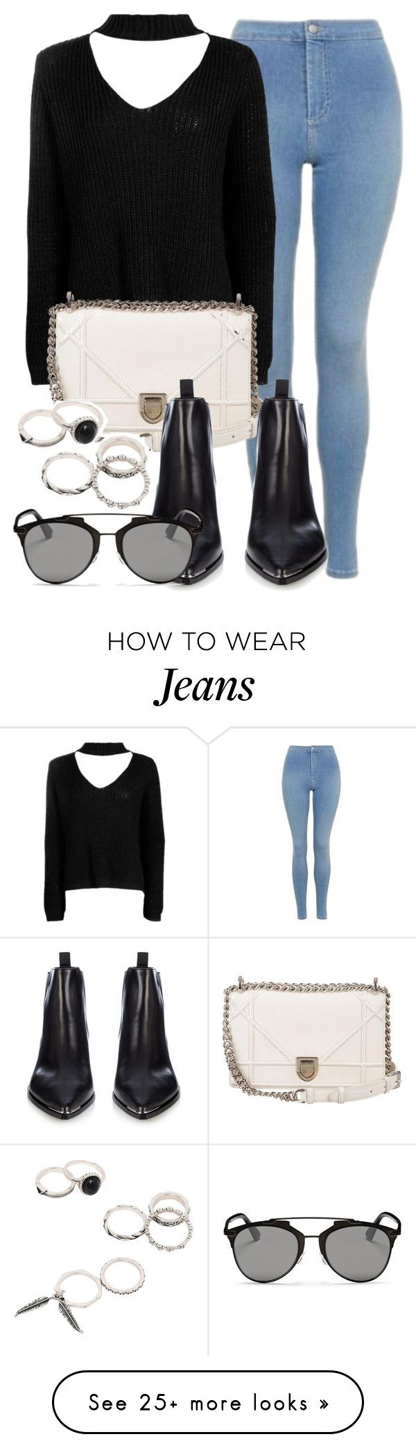 """""""Style #11269"""" by vany-alvarado on Polyvore featuring Topshop, Boohoo, Christian Dior and Acne Studios"""