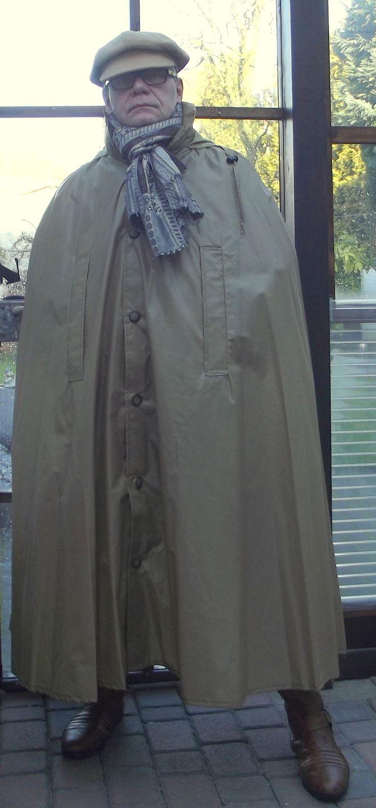 Sari cape with hat | Mens Cape | Mens cape, Rain cape und Cape