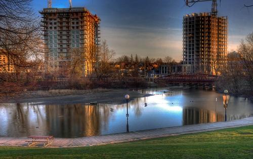 Waterloo Park Lake and Bridge , Waterloo , Ontario