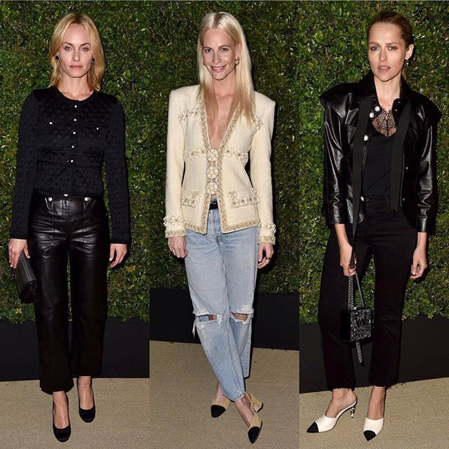 Amber Valletta Poppy Delevingne and Teresa Palmer at Chanel's Gabrielle launch in LA./ Вчера в Лос-Анджелесе состоялся запуск коллекции сумок Chanel's Gabrielle: все гости вечера - по ссылке в профиле.  via VOGUE RUSSIA MAGAZINE OFFICIAL INSTAGRAM - Fashion Campaigns  Haute Couture  Advertising  Editorial Photography  Magazine Cover Designs  Supermodels  Runway Models