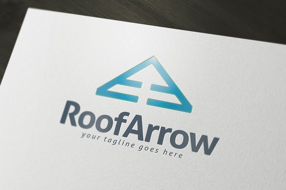 Roof Arrow Logo Template by Darius on Creative Market
