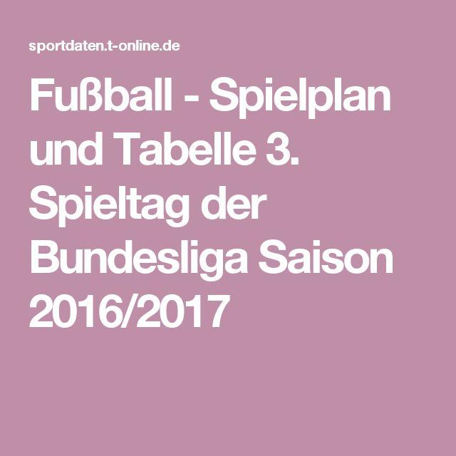 Fußball - Spielplan und Tabelle 3. Spieltag der Bundesliga Saison 2016/2017
