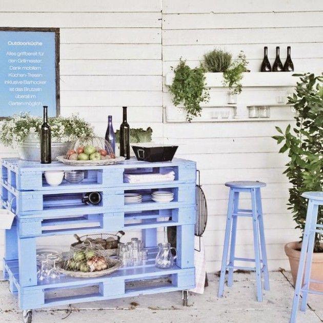 Die besten 25+ Paletten küche insel Ideen auf Pinterest | Paletten ...