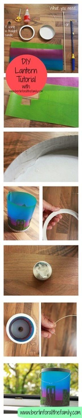 DIY Picture tutorial for how to make your own paper lantern from www.berlinforallthefamily.com #germany #deutschland #tradition #sanktmartin #stmartin